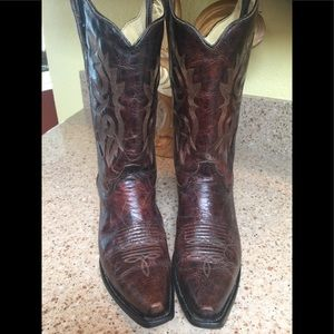 Sz 10 Corral Cowboy Boots Chocolate Brown